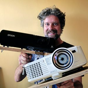 Jon and his beloved projectors