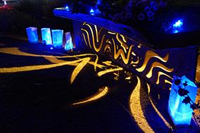 Lighting at Peace Park in Isla Vista
